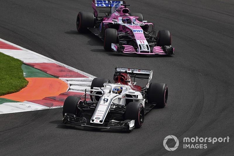 Force India: Sauber ontwikkelt zich sneller dan de topteams