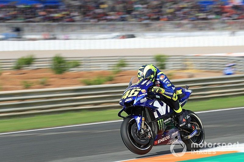 """Rossi """"very uncomfortable"""" in the dry in Valencia"""