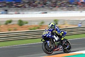 "Rossi ""very uncomfortable"" in the dry in Valencia"