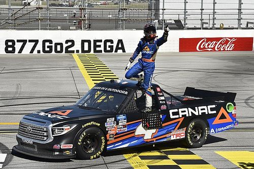 Canadian Raphael Lessard wins wild Truck race at Talladega