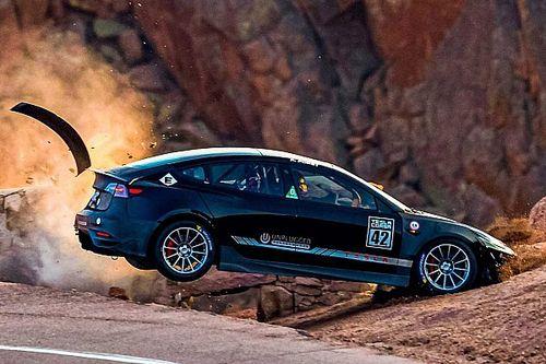 Tesla Model 3 Pikes Peak crash pics are insanely intense