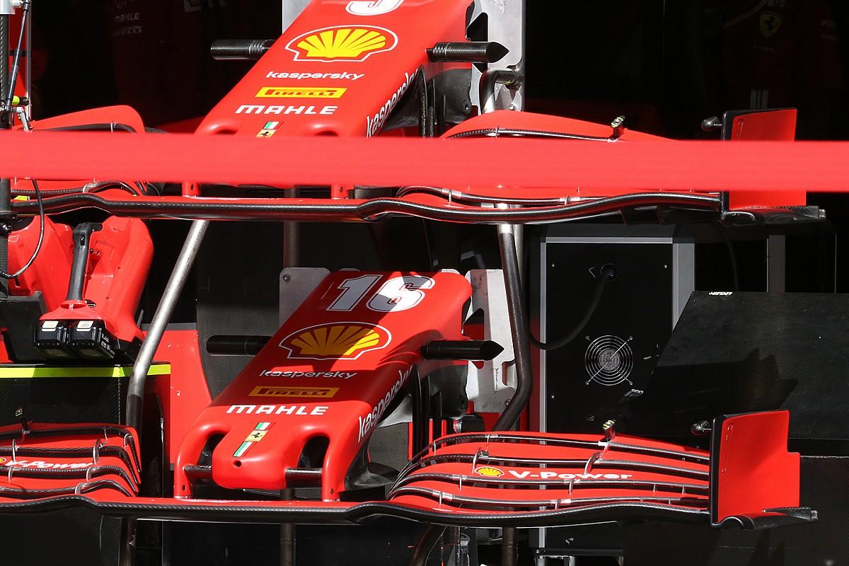 A Ferrari bizonytalan: két különböző első szárnnyal érkeztek a Belga Nagydíjra