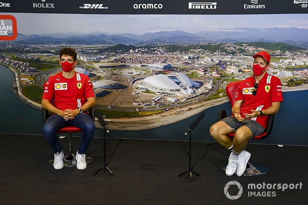 """Ferrari: """"Verilerde Vettel ve Leclerc arasında büyük fark yok"""""""