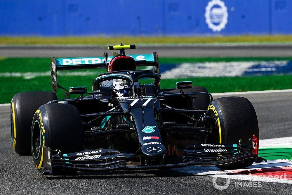 意大利大奖赛FP1:博塔斯最快,维斯塔潘撞墙,维特尔倒数第二