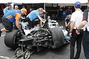 Nashville IndyCar: Johnson's 170mph spin and crash ends warm-up