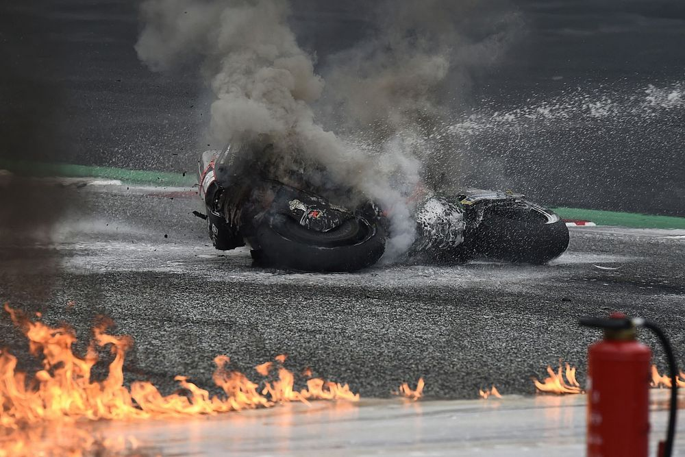 Savadori es operado por el accidente con Pedrosa y no correrá Austria