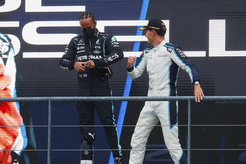 Hamilton pas inquiet pour l'harmonie chez Mercedes avec Russell