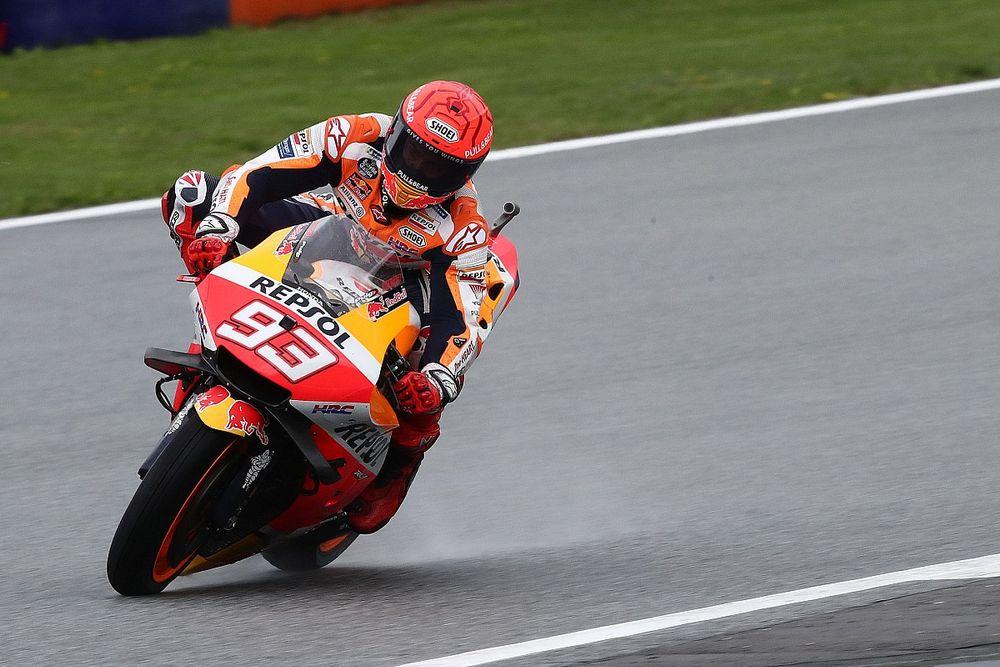 Hasil Warm Up MotoGP Styria: Marc Marquez Tunjukkan Kekuatan di Trek Basah