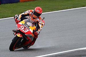 MotoGP, Stiria, Warm-Up: il bagnato esalta Marc Marquez