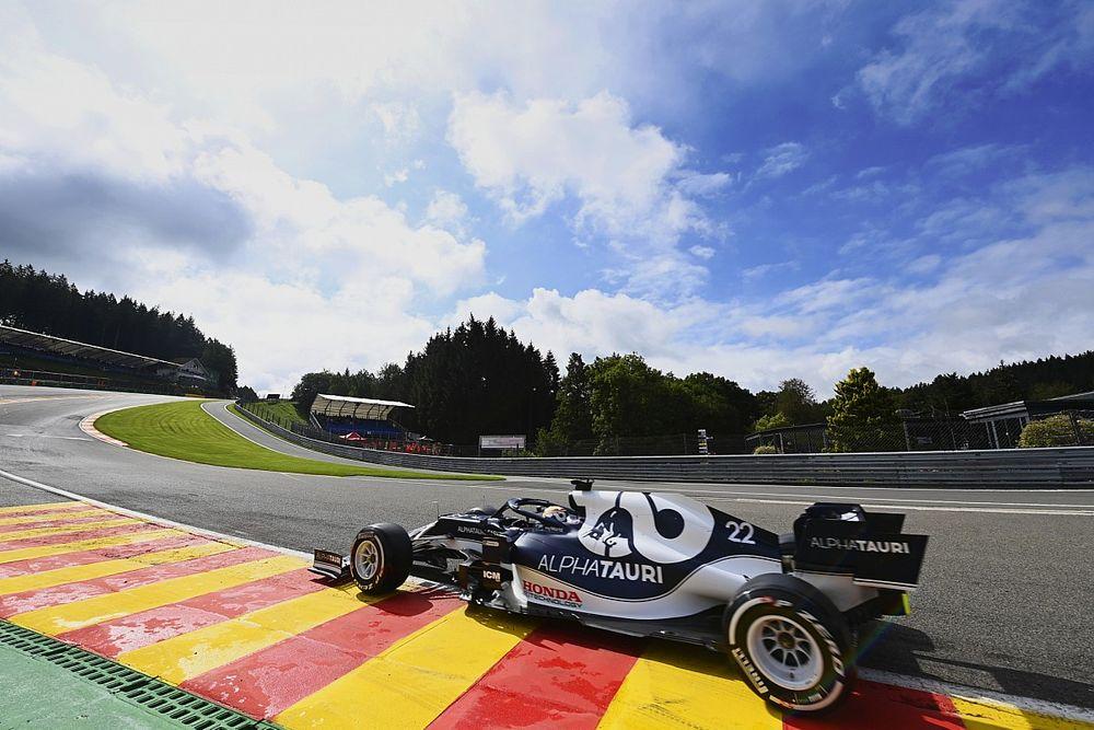 F1ベルギーFP1速報:まさにスパ・ウエザー! 難コンディションでボッタス首位。角田15番手