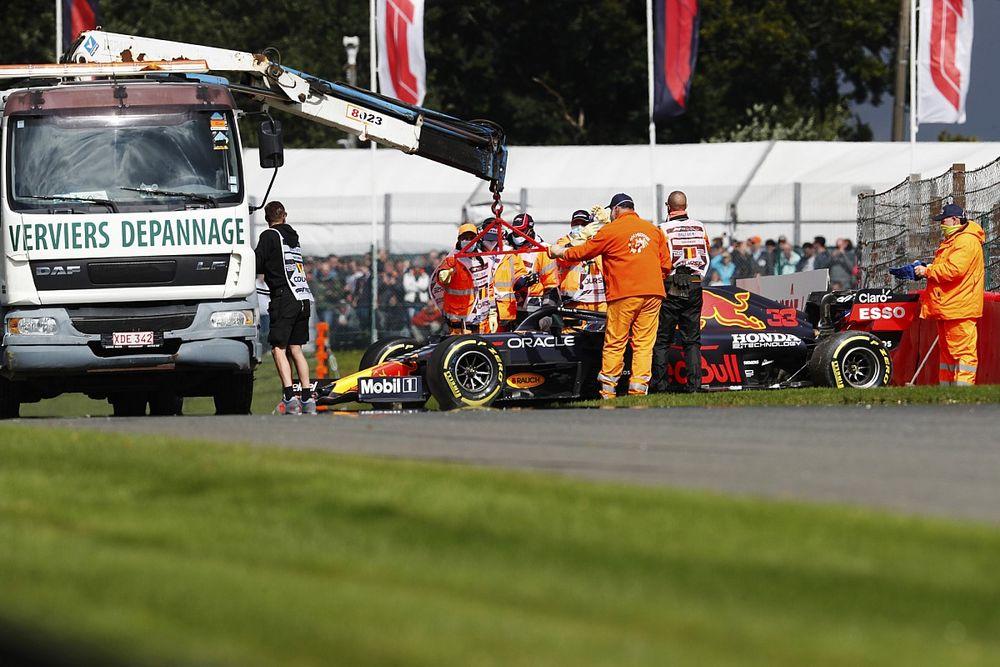 "Verstappen, ""muy contento"" pese a su accidente en Bélgica"