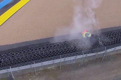 El primer accidente fuerte de las 24h de Le Mans 2021