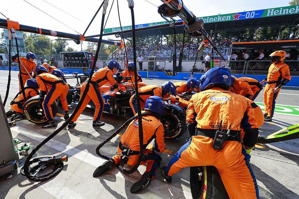 McLaren wint ook strijd in pits tijdens Grand Prix van Italië