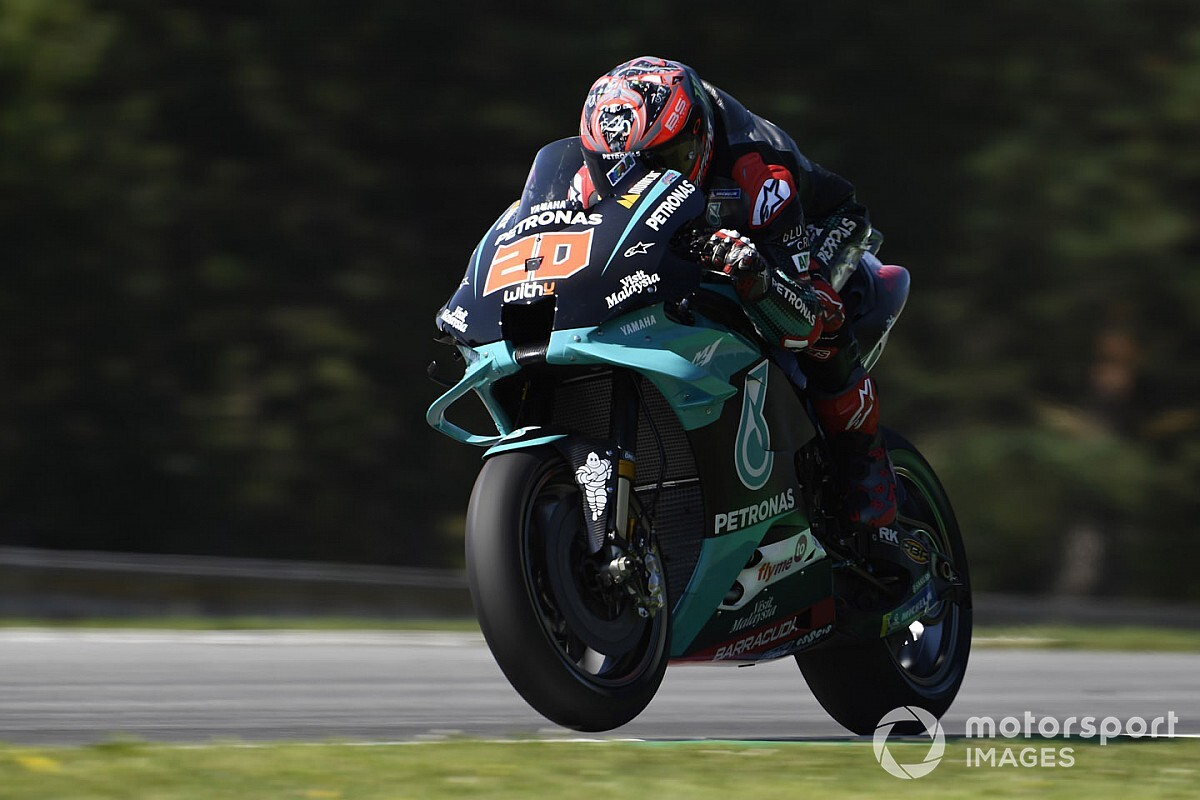 Quartararo lidera 1-2 de Petronas en la FP2 de Brno