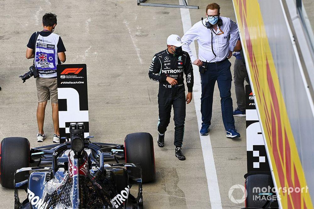 Bottas birla a Hamilton una extraña pole en el GP del 70º Aniversario