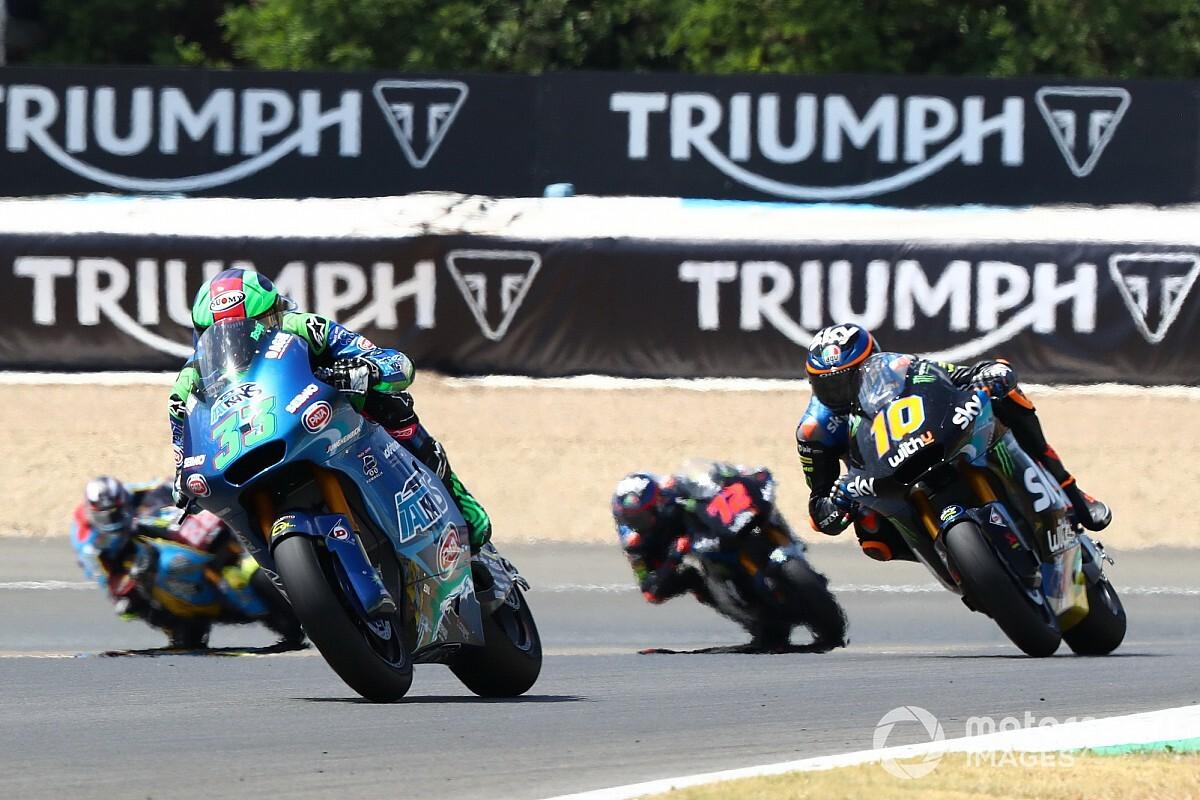 Moto2: è grande Italia con Bastianini, Marini e Bezzecchi