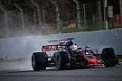 Pour Grosjean, les essais sur piste humide sont