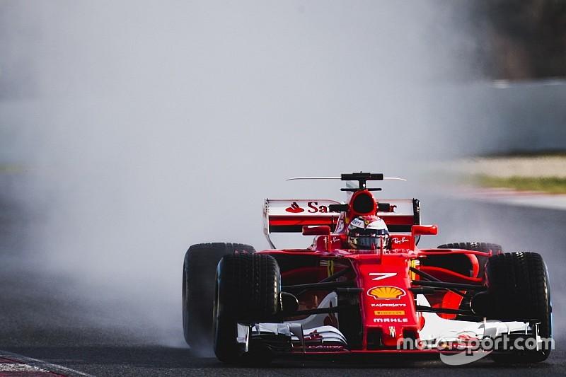 Barcelone, J4 - Räikkönen finit en tête d'une journée pluie peu représentative