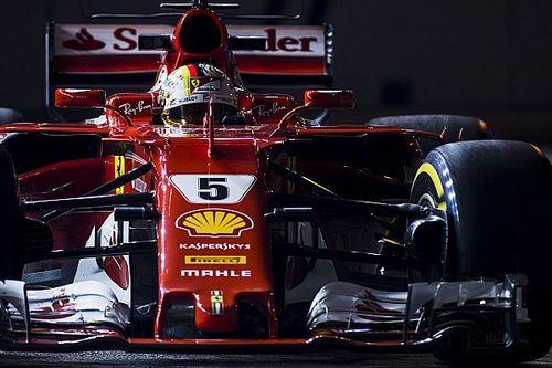 De startopstelling voor de Grand Prix van Singapore