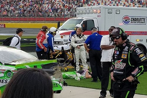 Kyle Busch's winning streak ends at Charlotte infield care center