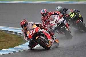 Márquez admite que seguiu Rossi na escolha dos pneus slicks