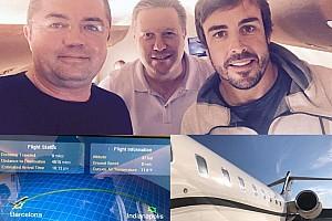 IndyCar Ultime notizie Ecco Fernando Alonso in volo verso Indianapolis