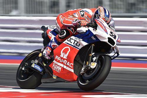 Petrucci verrast met beste tijd in tweede training, crash Marquez