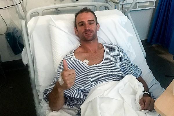 Will Davison back in training after crash injury