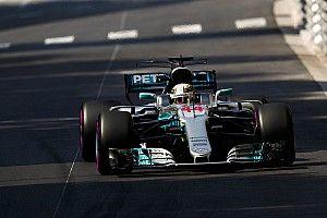 Ban jadi biang keladi penampilan buruk Hamilton di FP2