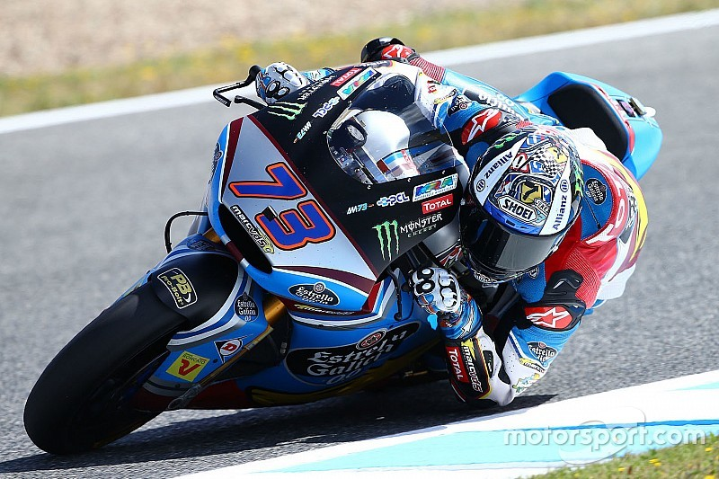 Jerez Moto2: Marquez takes maiden win as Morbidelli crashes