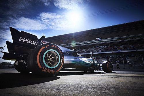De startopstelling voor de Grand Prix van Spanje