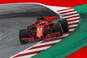 Vettel manda en una apretada práctica antes de la clasificación en Austria