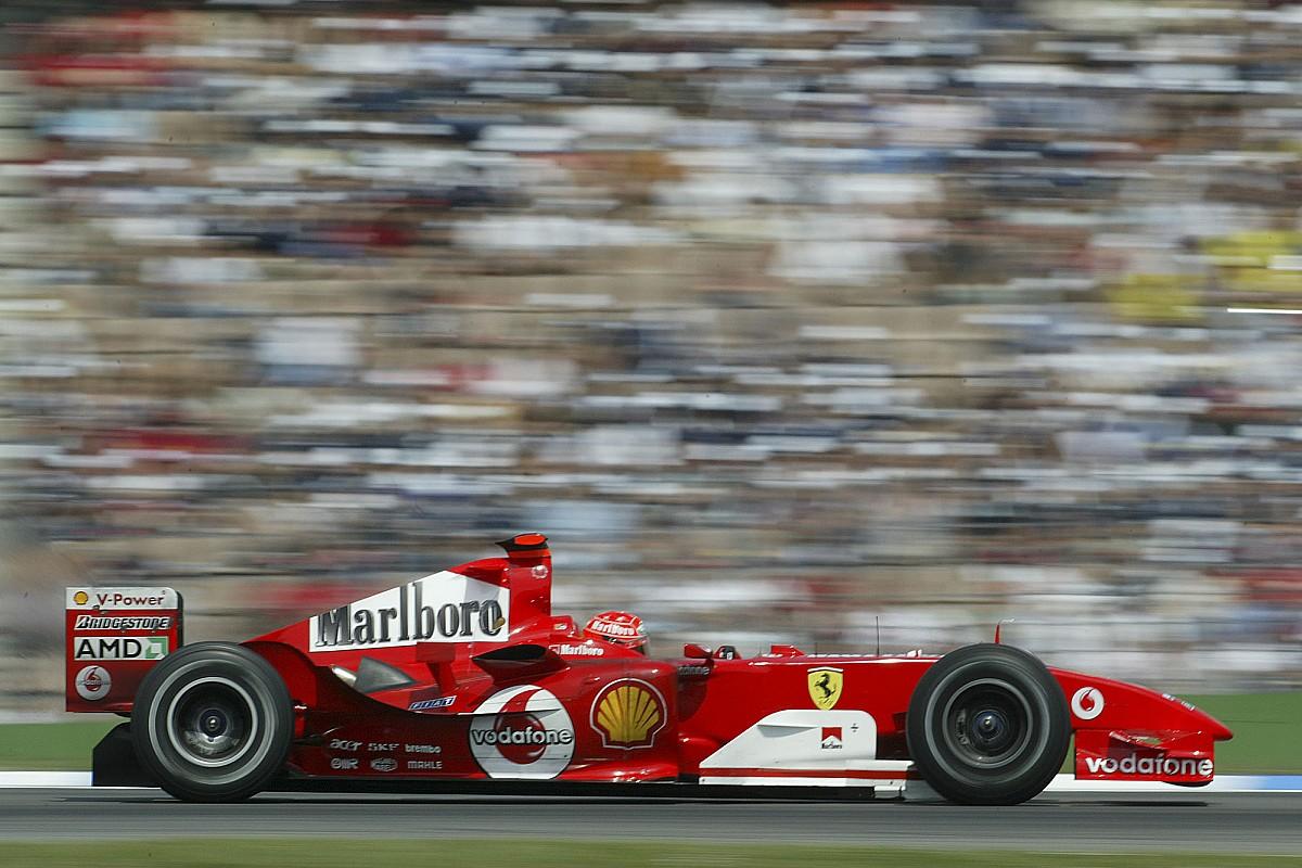 """小舒马赫希望驾驶F2004可让观众重温F1""""美好时光"""""""