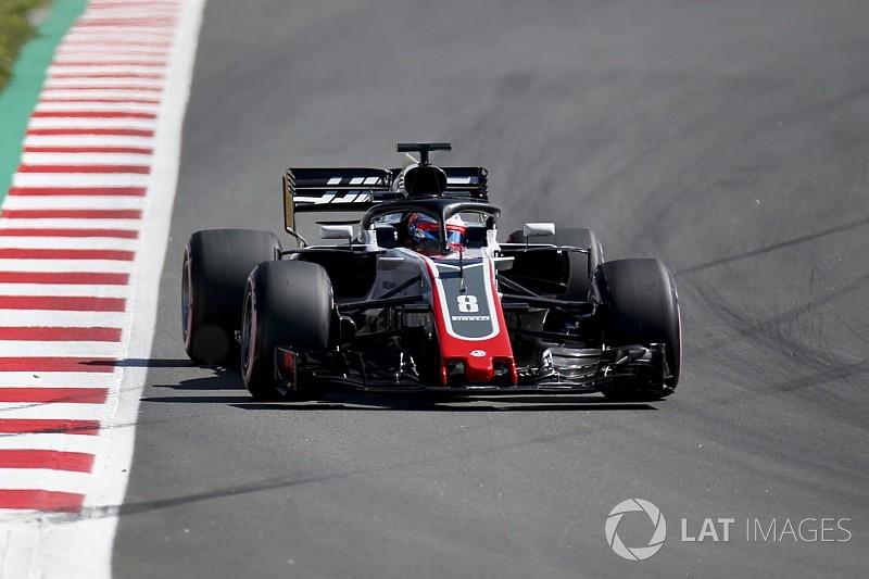 Test Barcellona, Giorno 1, Ore 13: Grosjean di un soffio su Hamilton