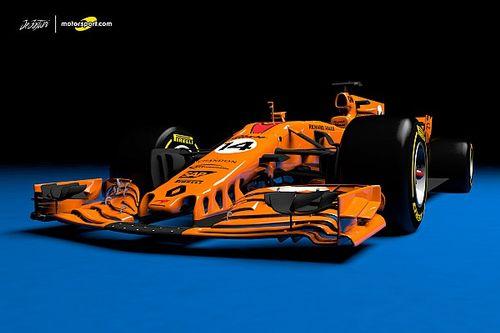 Designstudie: Der McLaren-Renault für die Formel 1 2018