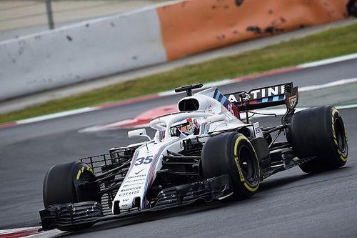Fotogallery: le foto più belle della Williams FW41 nei test di Barcellona