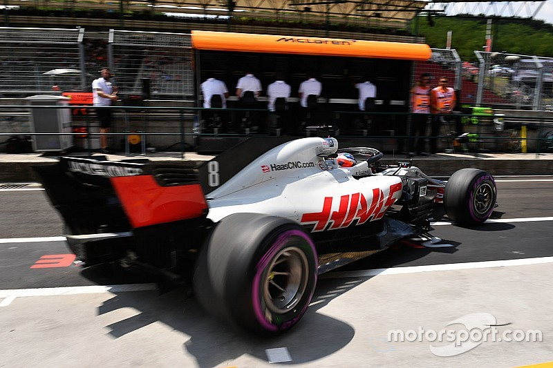 A Haas nagyon gyors volt Grosjeannal délután a Hungaroringen
