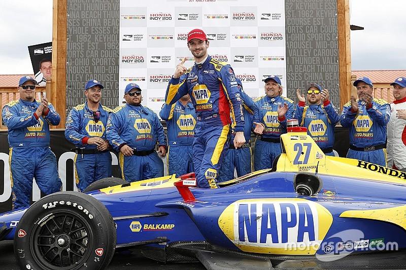 IndyCar Mid-Ohio: Rossi verslaat concurrentie met knappe tweestopstrategie