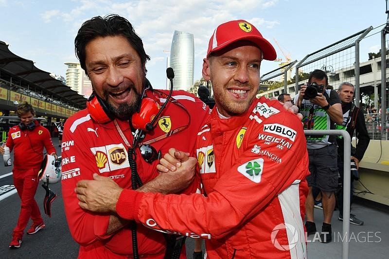 Azerbaijan GP:  Vettel beats Mercedes duo to pole