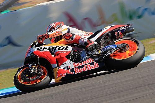 Jerez, Warm-Up: Marquez cade ancora, ma precede Iannone