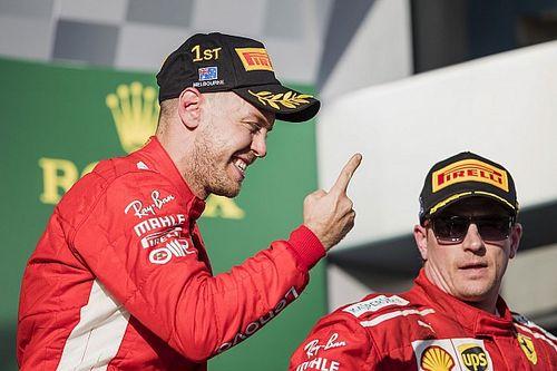 Képekben Vettel és a Ferrari óriási öröme: berúgták a ziccert