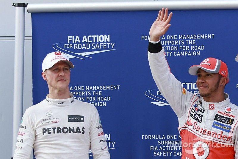 Hamilton bate otra marca de Schumacher