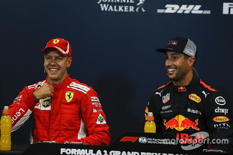 Ricciardo over titelstrijd: Hamilton is meer solide dan Vettel