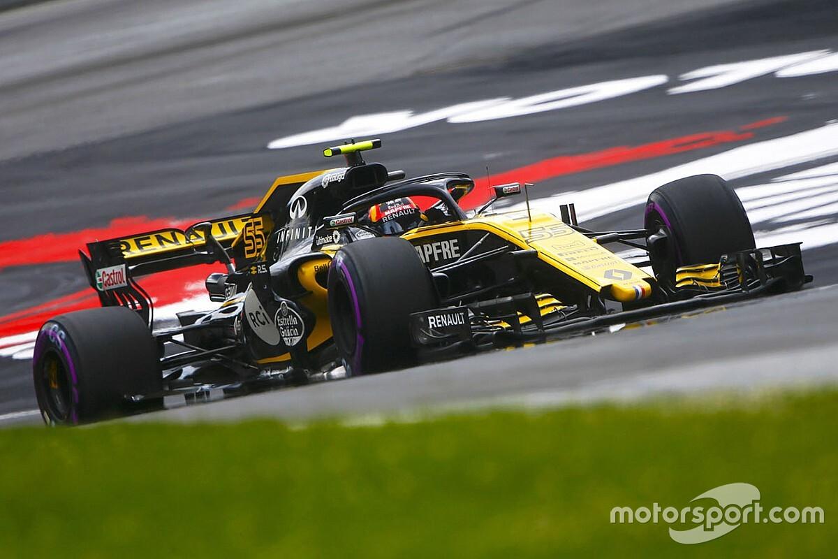 Renault en essais avec sa F1 2018 au Red Bull Ring