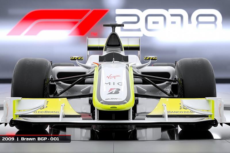 F1 2018: a Brawn GP világbajnok autója a klasszikusok között