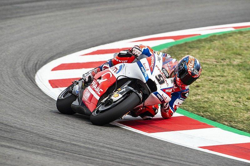 Petrucci sufre una dura caída probando nuevas piezas para Ducati