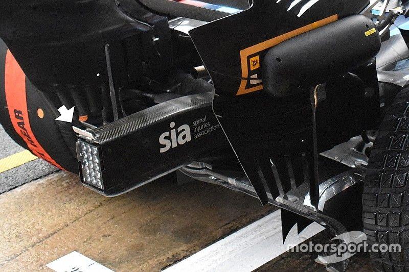A Williams is kis kacsafarokkal próbálkozik az FW41 hátulján