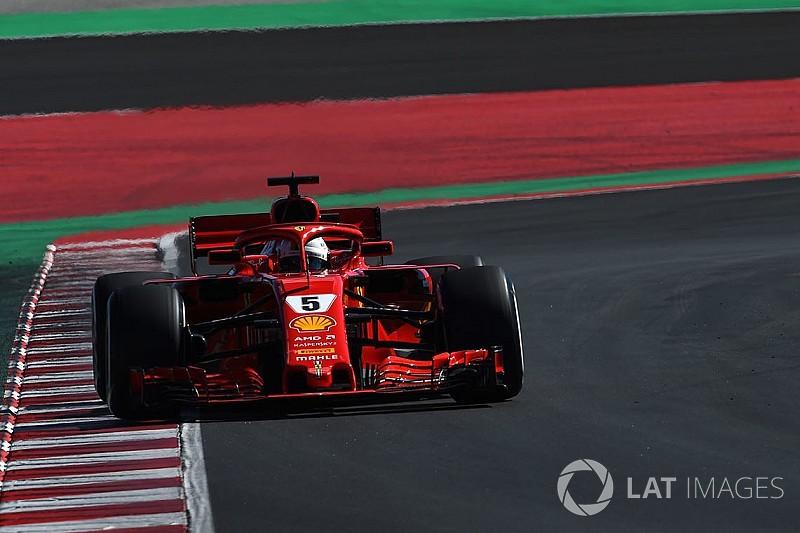 Vettel fue el mejor del primer día en Barcelona