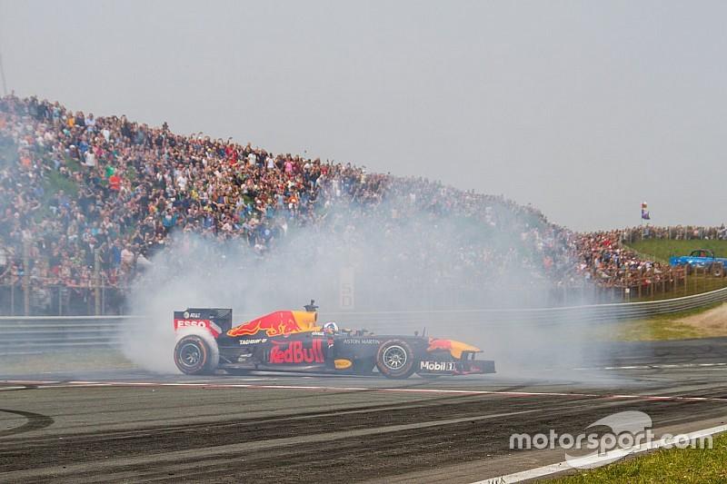 Hőkamerán egy F1-es autó működése