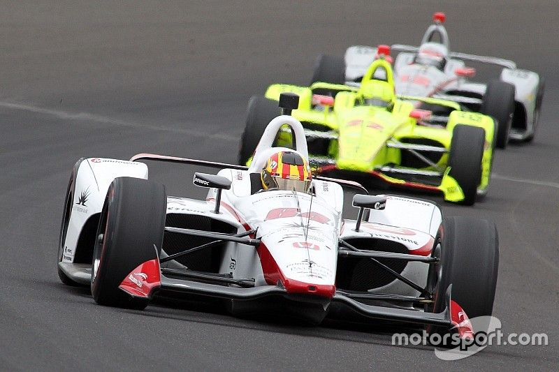 """Servia on passing 46 cars in the Indy 500: """"I was on fire!"""""""